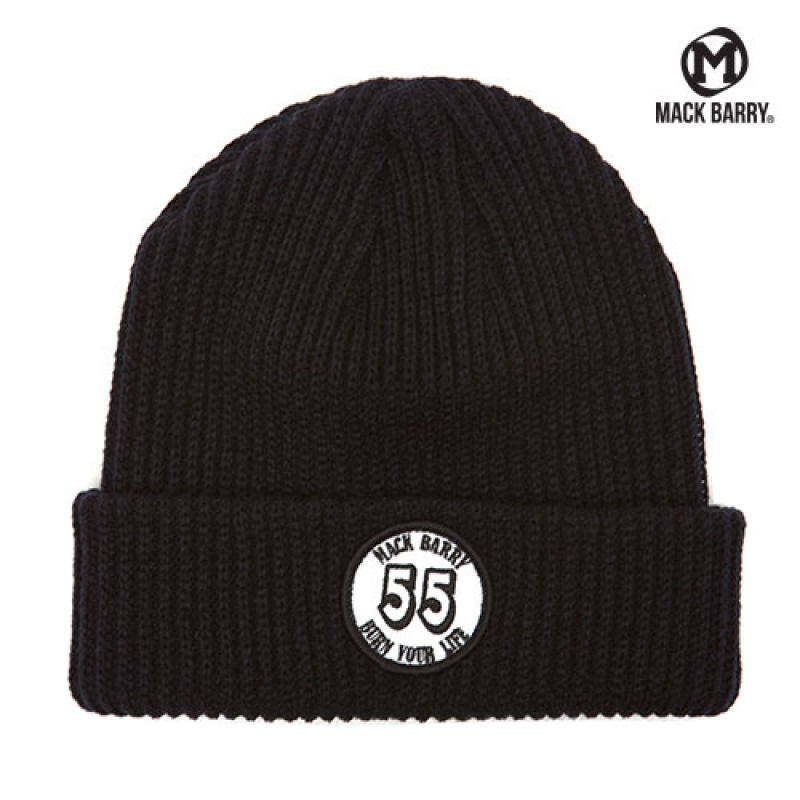 맥베리 BURN YOUR LIFE HEAVY WEIGHT BEANIE (BLACK)