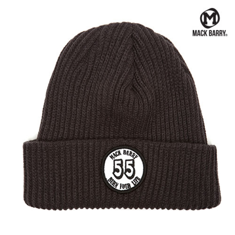 맥베리 BURN YOUR LIFE HEAVY WEIGHT BEANIE (CHARCOAL)
