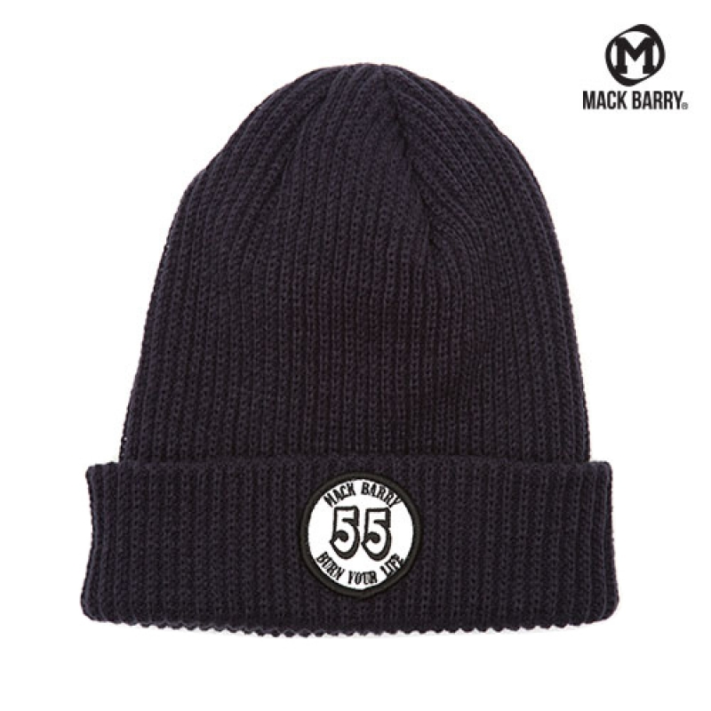 맥베리 BURN YOUR LIFE HEAVY WEIGHT BEANIE (NAVY)