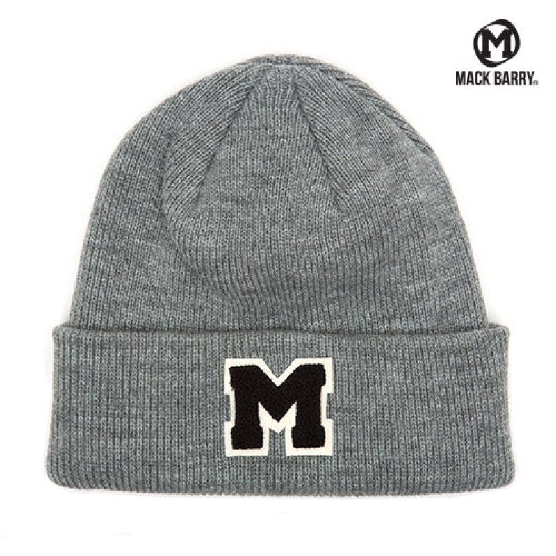 맥베리 OG M LOGO HEAVY WEIGHT BEANIE (GRAY)