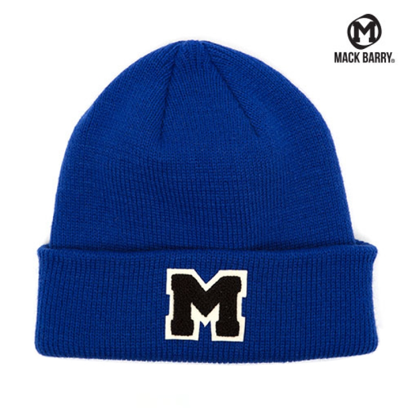 맥베리 OG M LOGO HEAVY WEIGHT BEANIE (ROYAL BLUE)