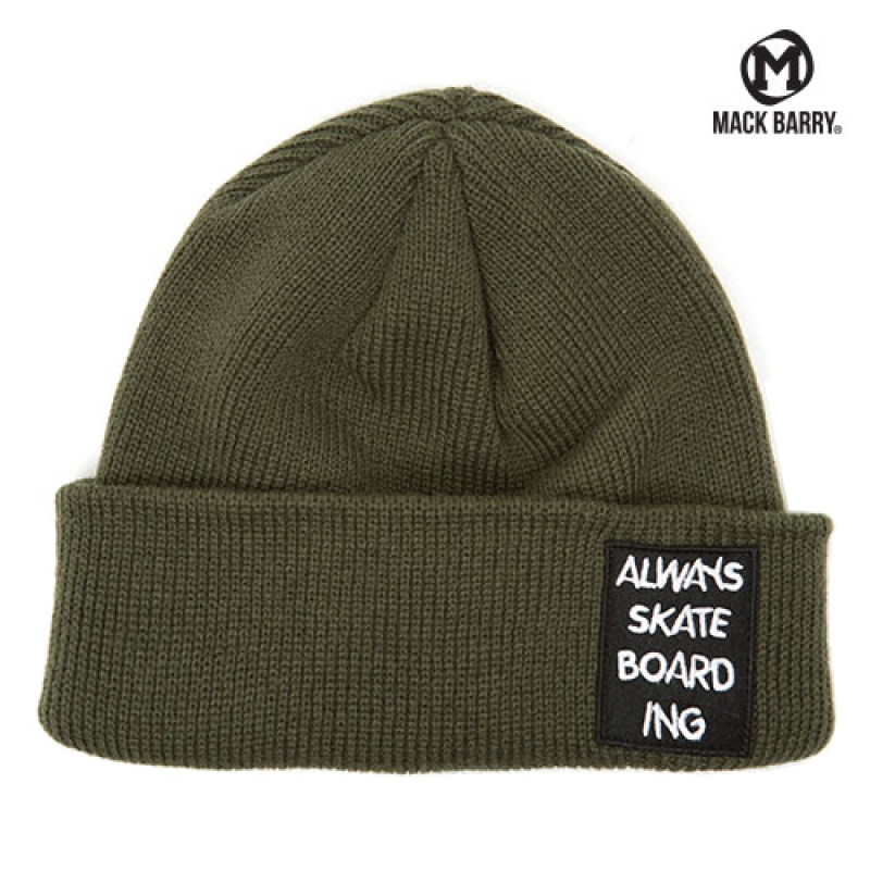 맥베리 SKATEBOARD ING  HEAVY WEIGHT BEANIE (KHAKI)