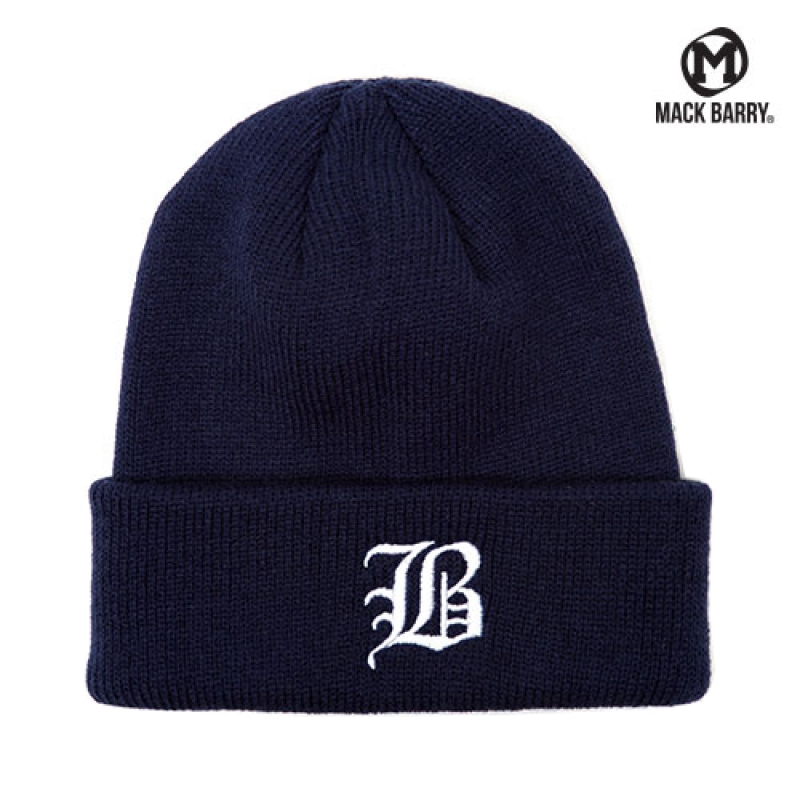 맥베리 OLD B LOGO HEAVY WEIGHT BEANIE (NAVY)