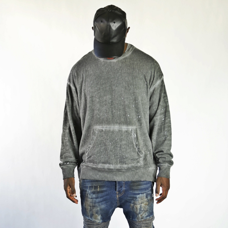 싱크데님 pull over light grey