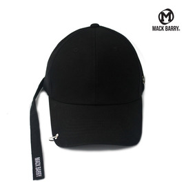 맥베리 모자 볼캡 MACK LONGSTRAP CURVE RING CAP (B) BLACK