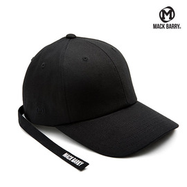 맥베리 모자 볼캡 MACK MIDDLESTRAP CURVE CAP BLACK MACK BARRY